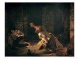 The Prisoner of Chillon, 1834 Giclee Print by Eugene Delacroix
