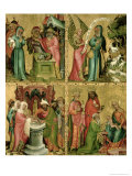 Joachim's Sacrifice, the Circumcision of Christ, the Annunciation to St. Joachim Giclee Print by  Master Bertram of Minden