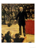Georges Clemenceau (1841-1929) Making a Speech at the Cirque Fernando, 1883 Giclee Print by Jean Francois Raffaelli