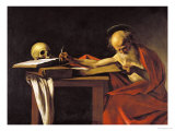 St. Jerome, 1605-06 Reproduction proc&#233;d&#233; gicl&#233;e par Caravaggio 