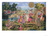 Royal Hunt, from Isfahan, Iran Premium Giclee Print