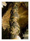 Barley Sugar Column from the Baldacchino with Laurel Leaves and Putti Chasing Bees, 1633 Giclee Print by Giovanni Lorenzo Bernini