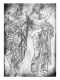 Figures of Two Apostles or Prophets Giclée-Druck von Villard de Honnecourt
