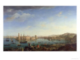 The Entrance to the Port of Marseilles, 1754 Giclée-Druck von Claude Joseph Vernet