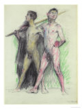 Study of Two Male Figures Giclee Print by Lovis Corinth