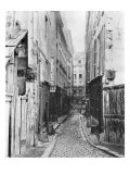 Rue Des Anglais, from Boulevard Saint-Germain, Paris, 1858-78 Giclee Print by Charles Marville