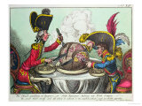 The Plum Pudding in Danger, 1805 Giclee Print by James Gillray