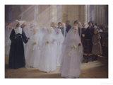Solemn Communion Giclee Print by Jules Octave Triquet