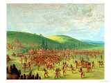 Indian Ball Game Giclee Print by George Catlin