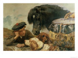 The Gamekeeper's Companion Giclee Print by William Strutt