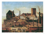 The Harkort Factory at Burg Wetter, circa 1834 Giclee Print by Alfred Rethel