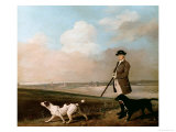 Sir John Nelthorpe, 6th Baronet out Shooting with His Dogs in Barton Field, Licolnshire, 1776 Giclee Print by George Stubbs