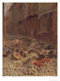 Barricade in the Rue De La Mortellerie, June 1848 (Memory of Civil War) 1849 Giclee Print by Jean-Louis Ernest Meissonier