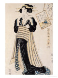 The Poet Sei Shonagon as a Courtesan Premium Giclee Print by Kikugawa Toshinobu Eizan