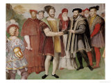 The Truce of Nice Between Francis I (1494-1547) and Charles V (1500-58) Giclee Print by Taddeo Zuccaro