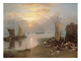 Sun Rising Through Vapour: Fishermen Cleaning and Selling Fish, c.1807 Giclee Print by Joseph Mallord William Turner