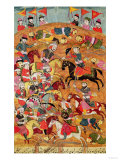 Battle Between the Persians and the Turanians, Illustration from the Shahnama (Book of Kings) Giclee Print