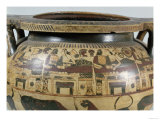 "Detail of the ""Krater of Eurytios"" of the Banquet with Heracles and Eurytios, Corinthian Style Giclee Print"