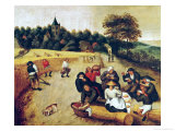 The Harvester's Meal Lámina giclée por Pieter Brueghel the Younger