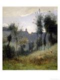 Canteleu Near Rouen Giclee Print by Jean-Baptiste-Camille Corot