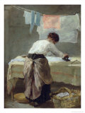 Woman Ironing Giclee Print by Armand Desire Gautier