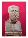Bust of Plato (circa 427-347 BC) Copy of a 4th Century BC Original Reproduction procédé giclée