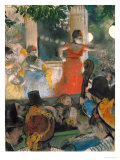 Cafe Concert at Les Ambassadeurs, 1876-77 Giclee Print by Edgar Degas