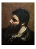 Self Portrait with Striped Collar Giclee Print by Gustave Courbet