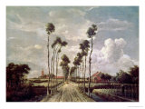 The Avenue at Middelharnis, 1689 Giclee Print by Meindert Hobbema