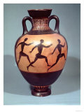 Panathenaic Black Figure Amphora Depicting a Foot Race (Pottery) Giclee Print
