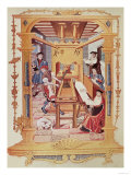 Interior of a 16th Century Printing Works, Copy of a Miniature from Royal Verses on the Conception Giclee Print