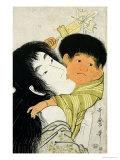 Yama-Uba and Kintoki Giclee Print by Kitagawa Utamaro
