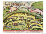The Siege of Dieppe in 1589, 1589-92 Giclee Print by Franz Hogenberg