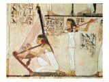 Two Musicians, from the Tomb of Rekhmire, New Kingdom (Wall Painting) Giclee Print