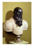 Portrait Bust of Jean De Bologna (circa 1529-1608) 1608 (Bronze &amp; Marble) Giclee Print by Pietro Tacca