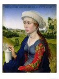 Mary Magdalene, from the right hand panel of Triptych of the Braque Family  Lámina giclée por Rogier van der Weyden