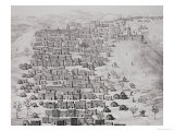 View of Part of the Town of Timbuktu from a Hill Giclee Print by Rene Caillie