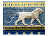 Lion Representing Ishtar, from Babylon, 625-539 BC (Enamelled Bricks) Giclee Print