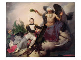 Napoleon (1769-1821) Crowned by Time, Before 1833 Giclee Print by Jean Baptiste Mauzaisse