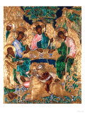 Icon Depicting Abraham and the Three Angels, Moscow School Giclee Print