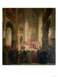 Estates General of Paris Meeting in Notre-Dame after the Death of Charles IV (1295-1328) Giclee Print by Jean Alaux