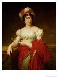 Portrait of Madame De Stael (1766-1817) Giclee Print by Anne-Louis Girodet de Roussy-Trioson