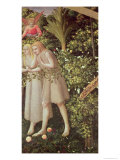 Adam and Eve Expelled from Paradise, Detail from the Annunciation, circa 1430-32 Giclee Print by  Fra Angelico
