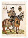 Equestrian Portrait of Charles V in Armour (1500-58) Giclee Print by Hans Liefrinck