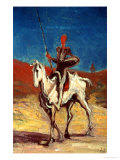 Don Quixote and Sancho Panza, circa 1865-1870 Giclee Print by Honore Daumier