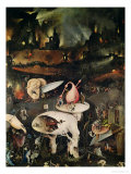 The Garden of Earthly Delights, Hell, Right Wing of Triptych, circa 1500 Impressão giclée por Hieronymus Bosch