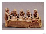 Bakers Kneading Dough to the Sound of a Flute, Found at Thebes, Boeotia, 6th Cent. BC, Photographic Print