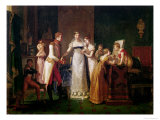 Marie-Louise (1791-1847) of Austria Bidding Farewell to Her Family in Vienna 13th March 1810, 1812 Giclee Print by Pauline Auzou