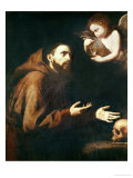 Vision of St. Francis of Assisi Giclee Print by Jusepe de Ribera