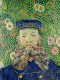 Portrait of the Postman Joseph Roulin, c.1889 Premium Giclee Print by Vincent van Gogh
